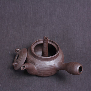 "Chaozhou Pottery ""Hollow"" Water Boiling Kettle - King Tea Mall"