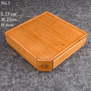 Bamboo Tea Stock Box / Board 3 Varied Sizes - King Tea Mall
