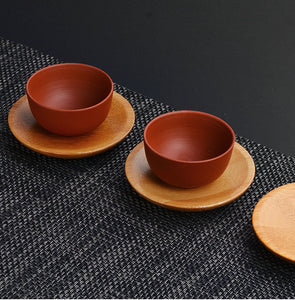 Bamboo Coaster Tea Cup Mat / Coaster and Stand - King Tea Mall
