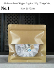 Load image into Gallery viewer, Moisture Proof Zipper Bag for Storing Puerh Tea 200g / 357g / 500g Cake