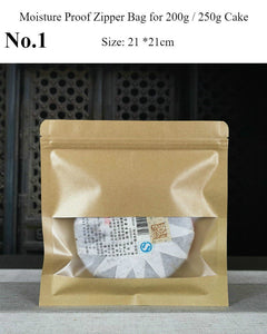 Moisture Proof Zipper Bag for Storing Puerh Tea 200g / 357g / 500g Cake - King Tea Mall