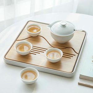 Light Tea Tray / Saucer / Board with Water Tank, 4 Variations - King Tea Mall