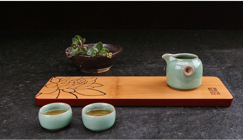 One Piece Bamboo Tea Tray 4 Variations