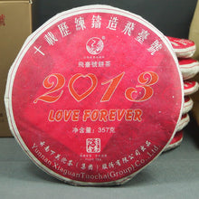 "Load image into Gallery viewer, 2013 XiaGuan ""Fei Tai Hao"" (LOVE FOREVER) 357g Puerh Sheng Cha Raw Tea"