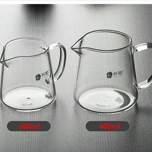 GongDaoBei Glass  Pitcher 300ml / 400ml with Stainless Filter - King Tea Mall