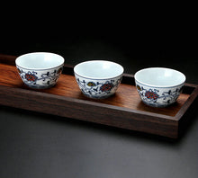 "Load image into Gallery viewer, Gaiwan ""Qing Hua Ci"" (Blue and White Porcelain) Twining Lotus Pattern - King Tea Mall"