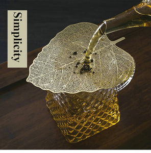 "Tea Strainer ""Leaf"" Stainless Steel Filter Two Color Variations - King Tea Mall"