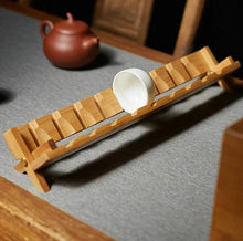 Load image into Gallery viewer, Tea Cup Stand Bamboo Made