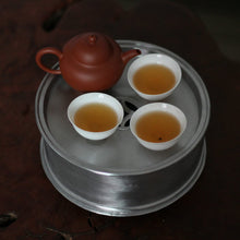 Load image into Gallery viewer, Tin Tea Tray / Saucer / Board, Chaozhou Gongfu Teaware - King Tea Mall