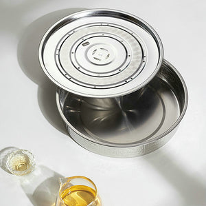 Stainless Steel Tea Tray Board with Water Tank 5 Variations