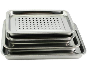 Rectangle Stainless Steel Tea Tray with Water Tank 5 Variations - King Tea Mall