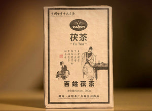 "2012 XiangYi FuCha ""Bai Xing"" (People) Brick 380g Dark Tea Hunan - King Tea Mall"