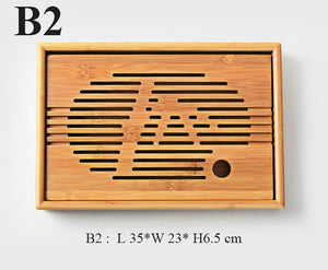 Bamboo Tea Tray with Water Tank 3 Variations - King Tea Mall