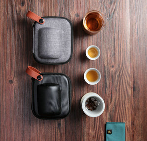 Portable Gongfu Tea Set for Travelling 2 Color Variations - King Tea Mall