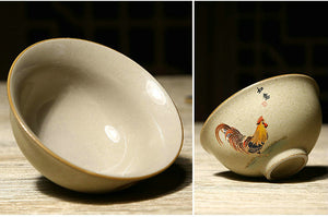 "Rough Pottery ""Ji Gang Bei"" (Cock Cup) Tea Cup 2 Sets Variations Teawares - King Tea Mall"