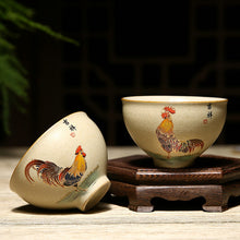 "Load image into Gallery viewer, Rough Pottery ""Ji Gang Bei"" (Cock Cup) Tea Cup 2 Sets Variations Teawares - King Tea Mall"