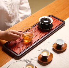 "Load image into Gallery viewer, Heavy Bamboo Tea Tray  ""Yun Bo"" L50* W15*H2cm"