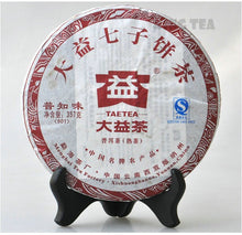 "Load image into Gallery viewer, 2009 DaYi ""Pu Zhi Wei"" (General) Cake 357g Puerh Shou Cha Ripe Tea"