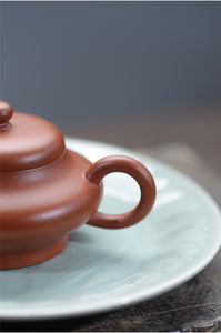 "Yixing ""Yi Gong"" Teapot 100cc ""Zhao Zhaung Zhu Ni"" Mud - King Tea Mall"