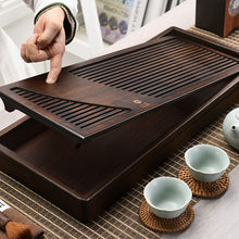 Load image into Gallery viewer, Bamboo Tea Tray with Water Tank 2 Variations Big / Small - King Tea Mall