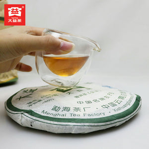 "2008 DaYi ""8582"" Cake 357g Puerh Sheng Cha Raw Tea (Batch 801) - King Tea Mall"