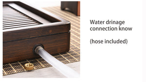 Bamboo Tea Tray with Water Tank 2 Variations Big / Small - King Tea Mall