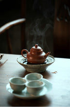 "Load image into Gallery viewer, Yixing Teapot ""Ba Le"" 130CC, Huanglongshan Zhuni Red Mud"