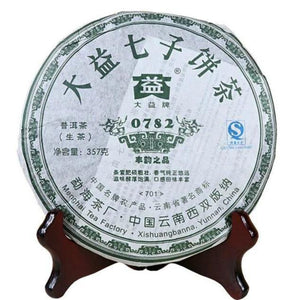 "2007 DaYi ""0782"" Cake 357g Puerh Sheng Cha Raw Tea - King Tea Mall"