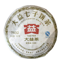 "Load image into Gallery viewer, 2012 DaYi ""7532"" Cake 357g Puerh Sheng Cha Raw Tea"