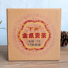 "Load image into Gallery viewer, 2014 XiaGuan ""Jin Gua"" (Golden Melon) Tuo 1000g Puerh Sheng Cha Raw Tea"
