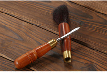 Load image into Gallery viewer, Tea Brush + Needle / Knife, Wood Handle, Stainless Steel - King Tea Mall