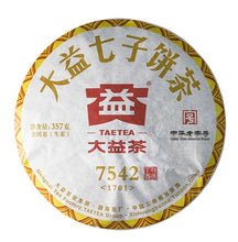 "Load image into Gallery viewer, 2017 DaYi ""7542"" Cake 357g Puerh Sheng Cha Raw Tea - King Tea Mall"