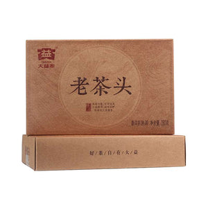 "2016 DaYi ""Lao Cha Tou"" (Old Tea Head) Brick 250g Puerh Shou Cha Ripe Tea"