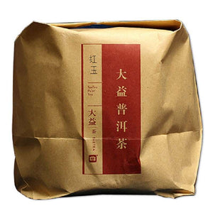 "2014 DaYi ""Hong Yu"" (Red Jade) Cake 357g Puerh Shou Cha Ripe Tea - King Tea Mall"