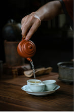 "Load image into Gallery viewer, Yixing ""Gong Deng"" Teapot 140cc, Huanglongshan Mountain Zhuni Red Mud"