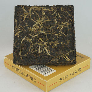 "2007 XiaGuan ""Fang Cha"" (Square Tea Brick) 200g Puerh Sheng Cha Raw Tea - King Tea Mall"
