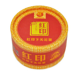 "2012 XiaGuan ""Hong Yin"" (Red Mark) Tuo 100g Puerh Sheng Cha Raw Tea - King Tea Mall"