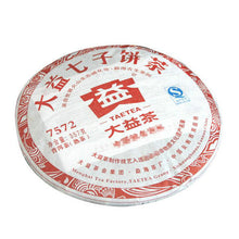 "Load image into Gallery viewer, 2012 DaYi ""7572"" Cake 357g Puerh Shou Cha Ripe Tea"