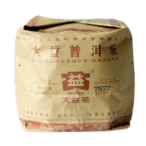 "2011 DaYi ""7572"" Cake 357g Puerh Shou Cha Ripe Tea (Batch 103) - King Tea Mall"