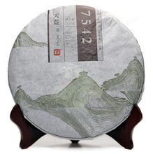 "Load image into Gallery viewer, 2013 DaYi ""7542"" Cake 357g Puerh Sheng Cha Raw Tea (New Ver.) - King Tea Mall"