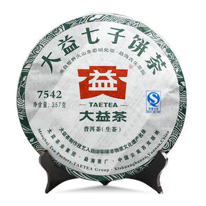 "2011 DaYi ""7542"" Cake 357g Puerh Sheng Cha Raw Tea (Batch 105/106) - King Tea Mall"