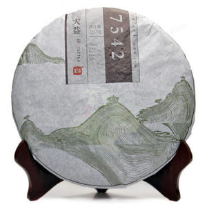 "2014 DaYi ""7542"" Cake 357g Puerh Sheng Cha Raw Tea - King Tea Mall"