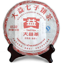 "Load image into Gallery viewer, 2011 DaYi ""0532"" Cake 357g Puerh Shou Cha Ripe Tea - King Tea Mall"
