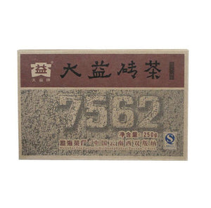 "2008 DaYi ""7562"" Brick 250g Puerh Shou Cha Ripe Tea - King Tea Mall"