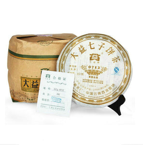 "2007 DaYi ""0712"" Cake 357g Puerh Sheng Cha Raw Tea - King Tea Mall"
