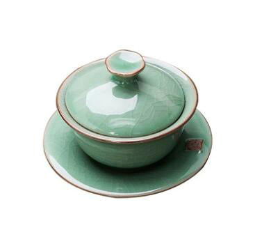 Celadon Porcelain Gaiwan 90ml for Chinese Gongfu Tea (2 variations) - King Tea Mall