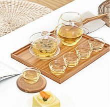 Load image into Gallery viewer, Glass Tea Cups 3 piece/set 30ml/pcs Heat-Cold Resistant Transparent - King Tea Mall