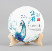 "Load image into Gallery viewer, 2017 XiaGuan ""Kong Que Chuan Qi"" (Legend of Peacock - Banpen Old Tree) 357g Cake Puerh Sheng Cha Raw Tea"