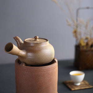 "Chaozhou Pottery ""Yong Fu"" Water Boiling Kettle, Medical Stone, around 600ml"