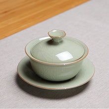 Load image into Gallery viewer, Celadon Porcelain Gaiwan 90ml for Chinese Gongfu Tea (2 variations)